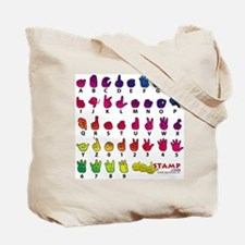 Got ASL? Rainbow SQ Tote Bag