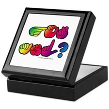Got ASL? Rainbow SQ Keepsake Box