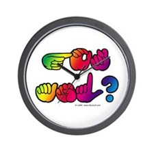 Got ASL? Rainbow SQ Wall Clock