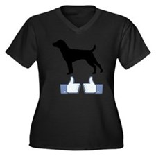 Patterdale Terrier Women's Plus Size V-Neck Dark T