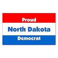 Proud North Dakota Democrat Rectangle Decal