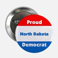 North Dakota Proud Democrat Button