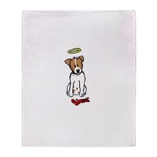 Jack Russell - Angel - Throw Blanket