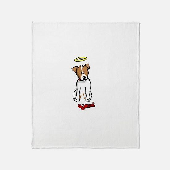 Jack Russell - Angel - Throw Blanket