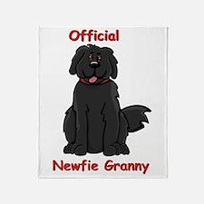 Newfie Granny Throw Blanket