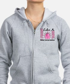 Licensed Fought Like a Girl 8S Zip Hoodie