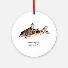 Corydoras paleatus (Cory Cat) Ornament (Round)