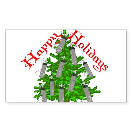 Nurse Christmas Sticker (Rectangle 10 pk)