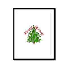Nurse Christmas Framed Panel Print