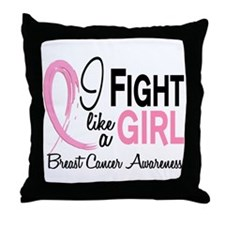 Licensed Fight Like a Girl 10.1 Throw Pillow