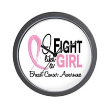 Licensed Fight Like a Girl 10.1 Wall Clock