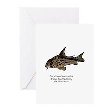 Corydoras leucomelas (Cory Ca Greeting Cards (Pack