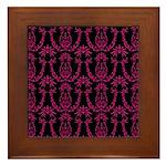 Classic Baroque Pattern Framed Tile