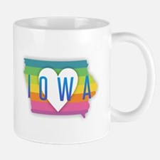 Iowa Heart Rainbow Mugs