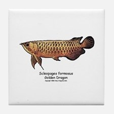 Scleropages formosus golden d Tile Coaster