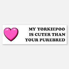 Cute Yorkipoo Bumper Bumper Bumper Sticker