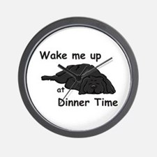 Wake Up for Dinner Wall Clock