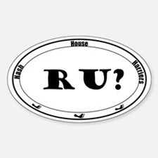 RU ? Sticker (Oval)