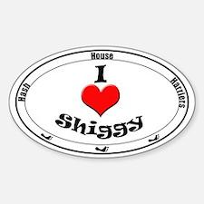 I Love Shiggy Sticker (Oval)