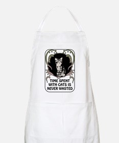 Time spent with cats is never wasted Apron