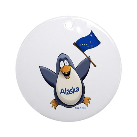 Alaska Penguin Ornament (Round)