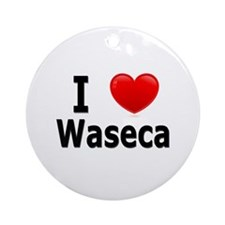 I Love Waseca Ornament (Round)
