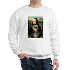 Mona Lisa & her Tiger Cat Sweatshirt