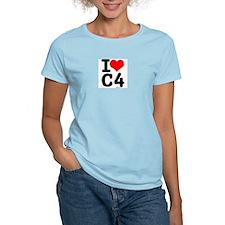 I Love C4 Women's Pink T-Shirt