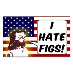 Jesus I Hate Figs Bumper Decal