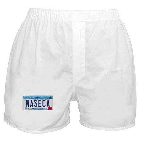 Waseca License Plate Boxer Shorts