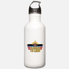 Aviation Cleared To Land Water Bottle
