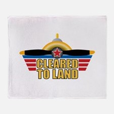 Aviation Cleared To Land Throw Blanket