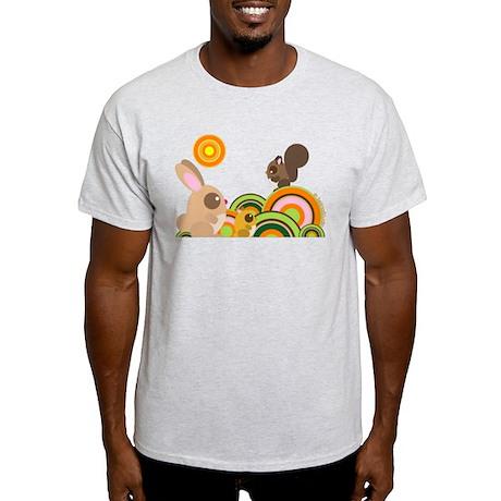 """Woodland Animals"" Light T-Shirt"