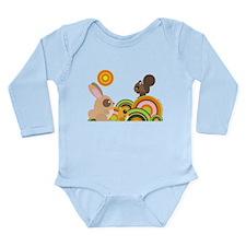 """""""Woodland Animals"""" Long Sleeve Infant Bodysuit"""