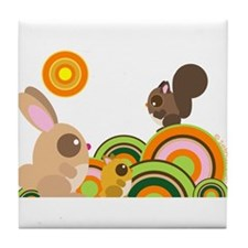 """""""Woodland Animals"""" Tile Coaster"""