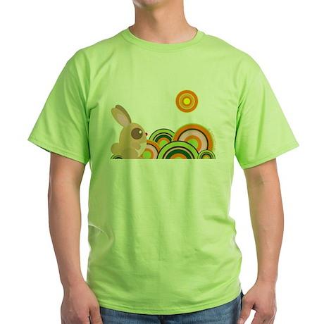 """Woodland Bunny"" Green T-Shirt"