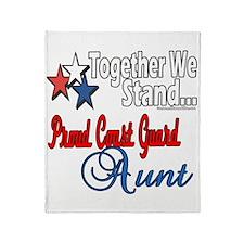 Coast Guard Aunt Throw Blanket