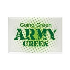 Going Green Army Green Rectangle Magnet