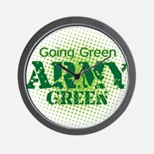 Going Green Army Green Wall Clock