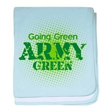 Going Green Army Green baby blanket