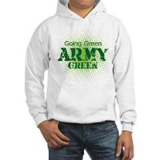 Going Green Army Green Jumper Hoody