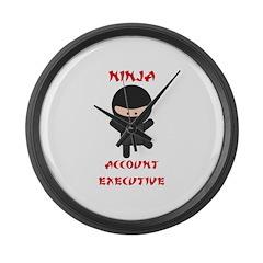 Ninja Account Executive Large Wall Clock