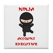 Ninja Account Executive Tile Coaster