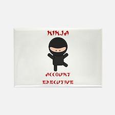 Ninja Account Executive Rectangle Magnet