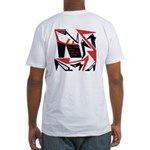 Shoe Design on back Men's Fitted T-Shirt