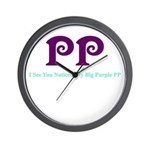 Big Purple PP Gift Wall Clock