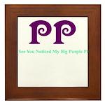 Big Purple PP Gift Framed Tile