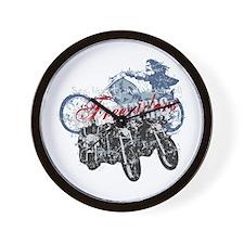 Bikers Wall Clock