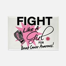 Licensed Fight Like a Girl 11.5 Rectangle Magnet