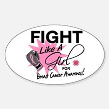Licensed Fight Like a Girl 11.5 Decal